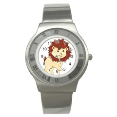 Happy Cartoon Baby Lion Stainless Steel Watch by Catifornia