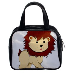 Happy Cartoon Baby Lion Classic Handbags (2 Sides) by Catifornia