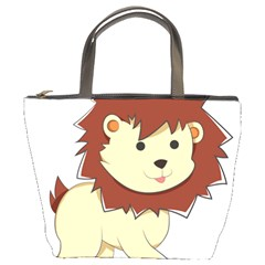 Happy Cartoon Baby Lion Bucket Bags by Catifornia