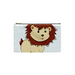 Happy Cartoon Baby Lion Cosmetic Bag (small)  by Catifornia