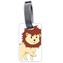 Happy Cartoon Baby Lion Luggage Tags (one Side)  by Catifornia
