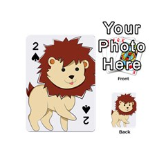 Happy Cartoon Baby Lion Playing Cards 54 (mini)  by Catifornia