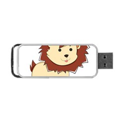 Happy Cartoon Baby Lion Portable Usb Flash (one Side) by Catifornia