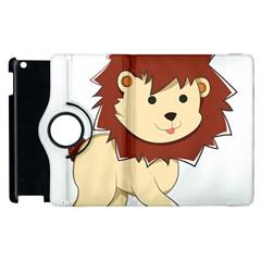 Happy Cartoon Baby Lion Apple Ipad 3/4 Flip 360 Case by Catifornia