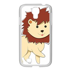 Happy Cartoon Baby Lion Samsung Galaxy S4 I9500/ I9505 Case (white) by Catifornia