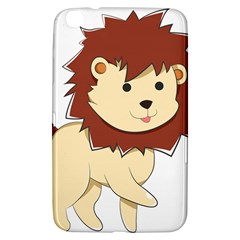 Happy Cartoon Baby Lion Samsung Galaxy Tab 3 (8 ) T3100 Hardshell Case  by Catifornia