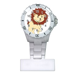 Happy Cartoon Baby Lion Plastic Nurses Watch by Catifornia