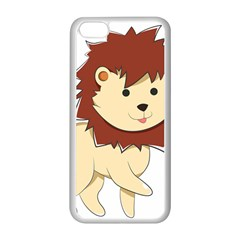 Happy Cartoon Baby Lion Apple Iphone 5c Seamless Case (white) by Catifornia