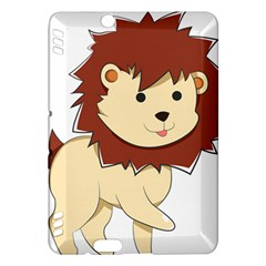 Happy Cartoon Baby Lion Kindle Fire Hdx Hardshell Case by Catifornia