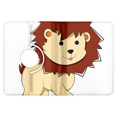 Happy Cartoon Baby Lion Kindle Fire Hdx Flip 360 Case by Catifornia