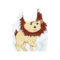 Happy Cartoon Baby Lion Full Print Recycle Bags (s)  by Catifornia