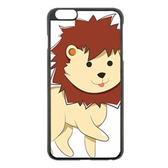 Happy Cartoon Baby Lion Apple Iphone 6 Plus/6s Plus Black Enamel Case by Catifornia