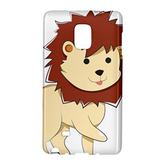 Happy Cartoon Baby Lion Galaxy Note Edge by Catifornia