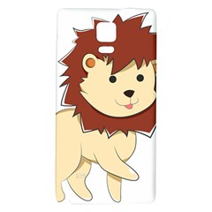 Happy Cartoon Baby Lion Galaxy Note 4 Back Case by Catifornia