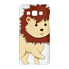 Happy Cartoon Baby Lion Samsung Galaxy A5 Hardshell Case  by Catifornia
