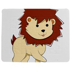 Happy Cartoon Baby Lion Jigsaw Puzzle Photo Stand (rectangular) by Catifornia