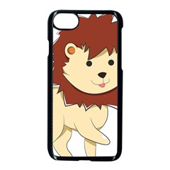 Happy Cartoon Baby Lion Apple Iphone 7 Seamless Case (black) by Catifornia