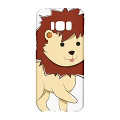Happy Cartoon Baby Lion Samsung Galaxy S8 Hardshell Case  by Catifornia