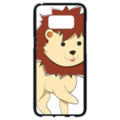 Happy Cartoon Baby Lion Samsung Galaxy S8 Black Seamless Case by Catifornia