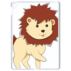 Happy Cartoon Baby Lion Apple Ipad Pro 9 7   White Seamless Case by Catifornia