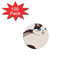 Ragdoll Cat For Life 1  Mini Buttons (100 Pack)  by Catifornia