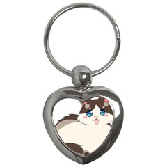 Ragdoll Cat For Life Key Chains (heart)  by Catifornia