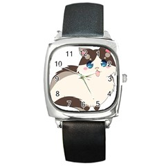 Ragdoll Cat For Life Square Metal Watch by Catifornia