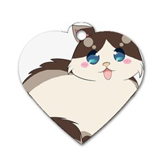 Ragdoll Cat For Life Dog Tag Heart (one Side) by Catifornia