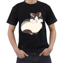 Ragdoll Cat For Life Men s T Shirt (black) by Catifornia
