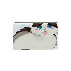 Ragdoll Cat For Life Cosmetic Bag (small)  by Catifornia