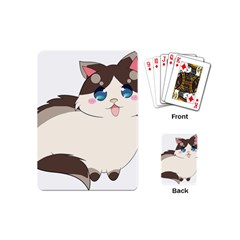 Ragdoll Cat For Life Playing Cards (mini)  by Catifornia