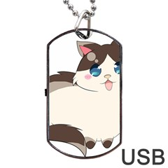 Ragdoll Cat For Life Dog Tag Usb Flash (two Sides) by Catifornia