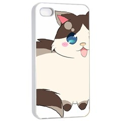 Ragdoll Cat For Life Apple Iphone 4/4s Seamless Case (white) by Catifornia