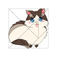 Ragdoll Cat For Life Acrylic Tangram Puzzle (4  X 4 ) by Catifornia