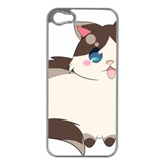 Ragdoll Cat For Life Apple Iphone 5 Case (silver) by Catifornia