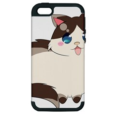 Ragdoll Cat For Life Apple Iphone 5 Hardshell Case (pc+silicone) by Catifornia