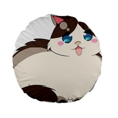 Ragdoll Cat For Life Standard 15  Premium Round Cushions by Catifornia