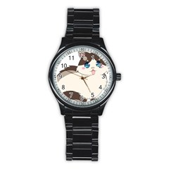 Ragdoll Cat For Life Stainless Steel Round Watch by Catifornia