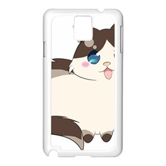 Ragdoll Cat For Life Samsung Galaxy Note 3 N9005 Case (white) by Catifornia