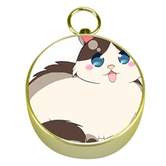 Ragdoll Cat For Life Gold Compasses by Catifornia