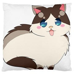 Ragdoll Cat For Life Large Flano Cushion Case (two Sides) by Catifornia