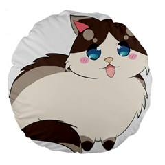 Ragdoll Cat For Life Large 18  Premium Flano Round Cushions by Catifornia