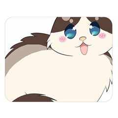 Ragdoll Cat For Life Double Sided Flano Blanket (large)  by Catifornia