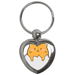 Yellow Cat Egg Key Chains (heart)  by Catifornia