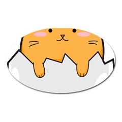 Yellow Cat Egg Oval Magnet by Catifornia