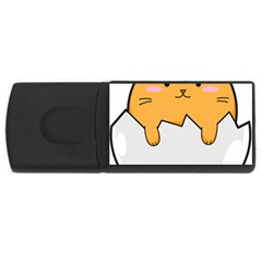 Yellow Cat Egg Usb Flash Drive Rectangular (4 Gb) by Catifornia