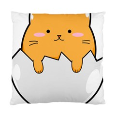 Yellow Cat Egg Standard Cushion Case (two Sides) by Catifornia