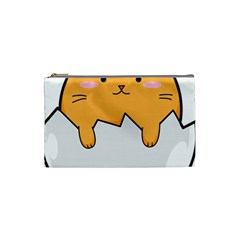 Yellow Cat Egg Cosmetic Bag (small)  by Catifornia