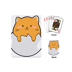 Yellow Cat Egg Playing Cards (mini)  by Catifornia