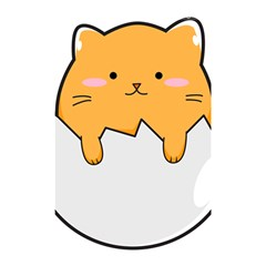 Yellow Cat Egg Shower Curtain 48  X 72  (small)  by Catifornia